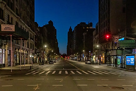 The Empty Streets of New York City