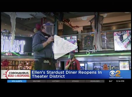 Ellen's Stardust Diner Reopens In Theater District | CBSN New York