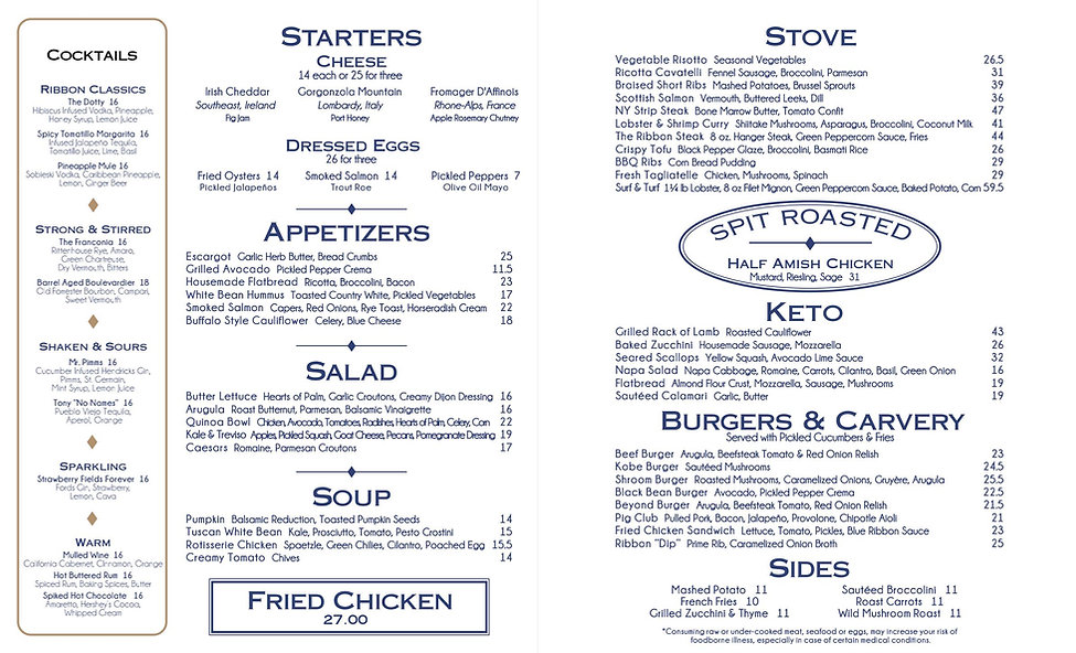 Ribbon 72 Menu