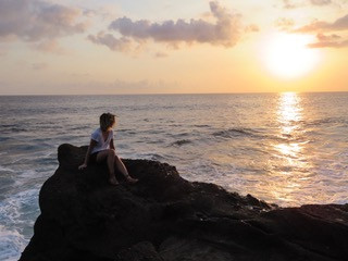 From being stuck in an office for every sunset, to chasing every sunset in Bali. Photo by: Tiff Ng.