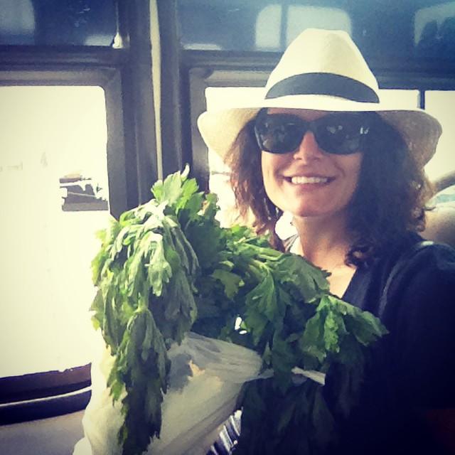 stuck in traffic admiring my huge stalk of celery.jpg