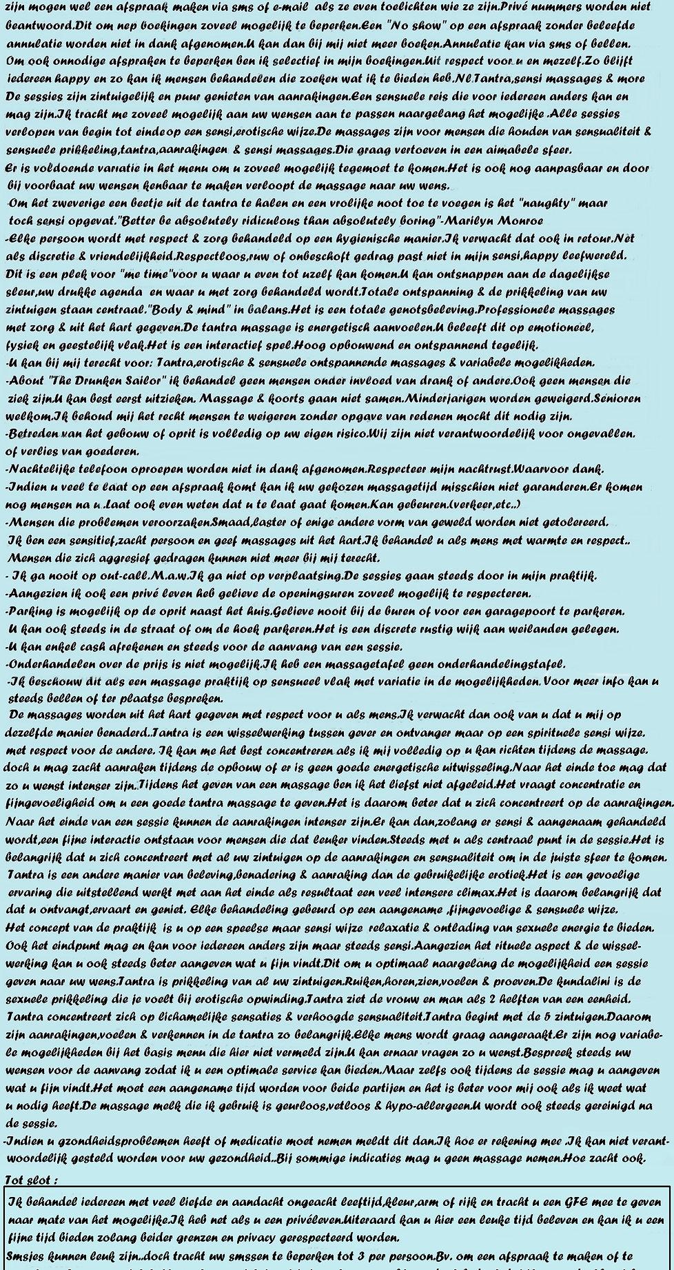 Miss Monroe Massage Parlor/info & good to know/Massagesalon etiquette
