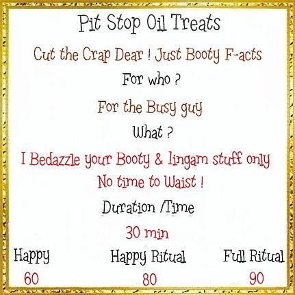 Menu Pit stop oil treats 30 min 60  laat
