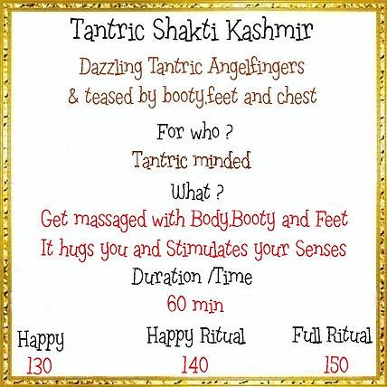 Menu Tantric Shakti Kashmir 3 choice 60