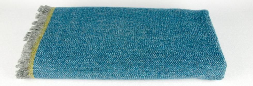 Turquoise Lambswool Throw