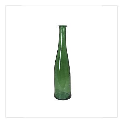 Shiny Green Bottle Vase