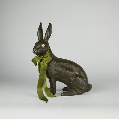 Sitting Chocolate Rabbit (Resin)