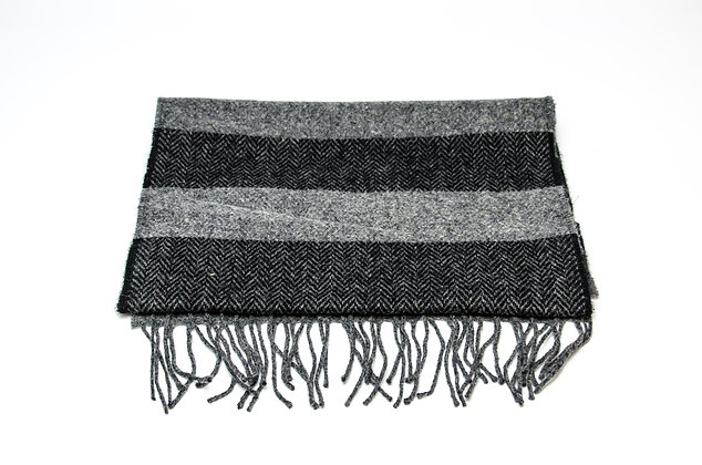 Two Tone Grey Black Scarf by Foxford