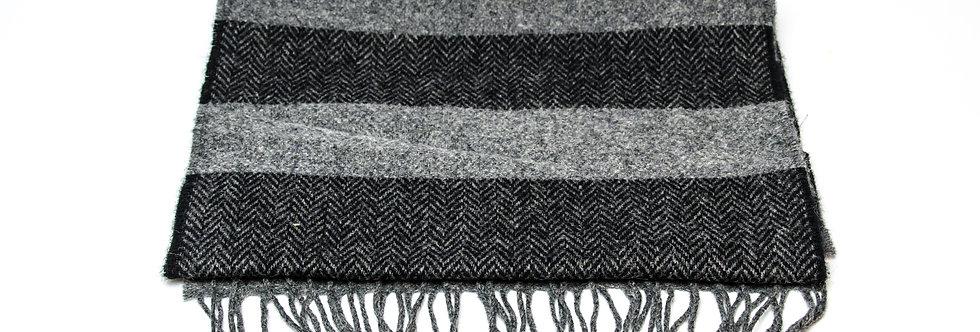 Two Tone Grey Black Scarf by Foxford