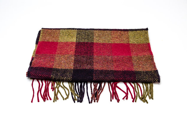 Country Block Check Scarf by Foxford