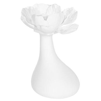 White Porcelain Bud Vase Hibiscus B1