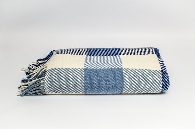 Vintage Dublin Check Throw by Foxford