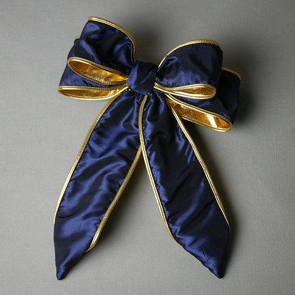 Navy/Gold Trim Bow