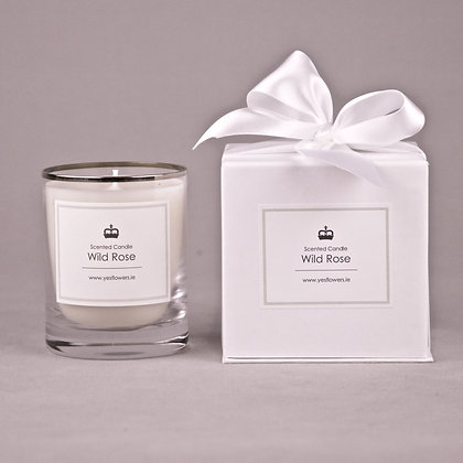 Wild Rose Scented Candle