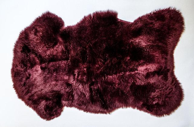 Irish Sheepskin Rug - Bordeaux
