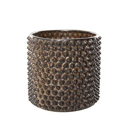 Ceramic Studded Pot Gold