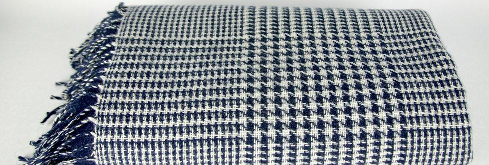 Blue & White Glen Throw
