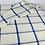 Thumbnail: White & Blue Windowpane Lambswool Throw