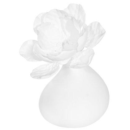 White Porcelain Bud Vase Hibiscus B