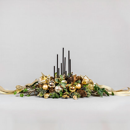 Luxury Table Center Piece Gold, Hand Made by Yes Flowers