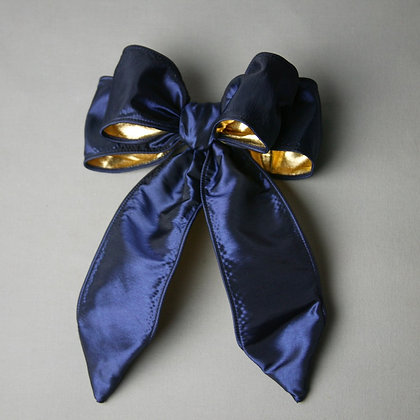 Navy/Gold Bow