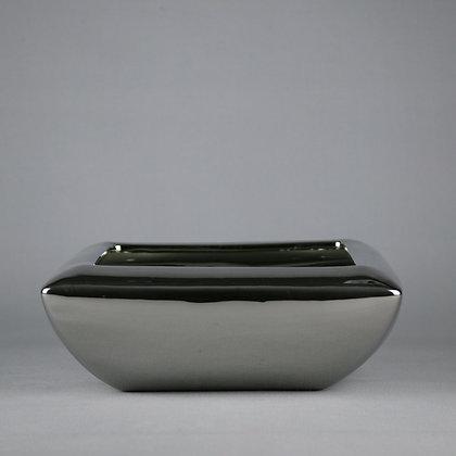 Sliver Ceramic Square Planter L30cm x H11cm x D30c