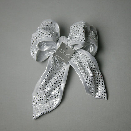 Silver Dots Bow