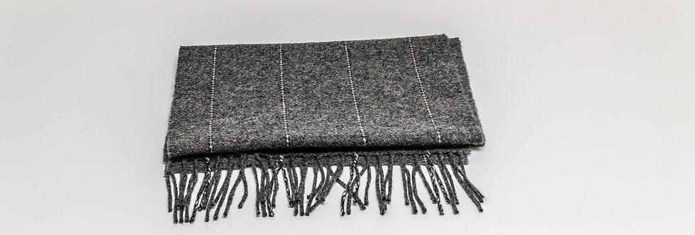 Grey Pinstripe Scarf by Foxford