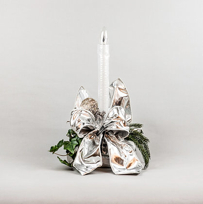 Traditional Candle Log Silver, Hand Made by Yes Flowers