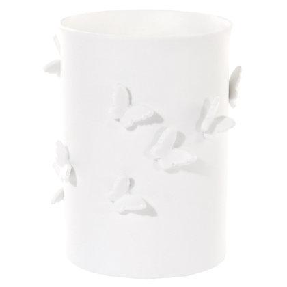 White Porcelain Butterfly Pot S