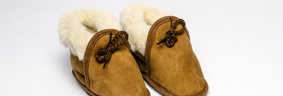 Sheepskin Baby Slippers Brown
