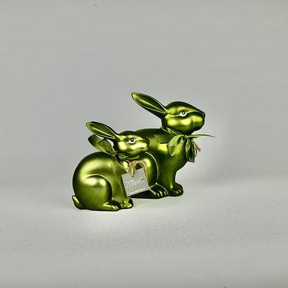 Dark Green Ceramic Rabbit