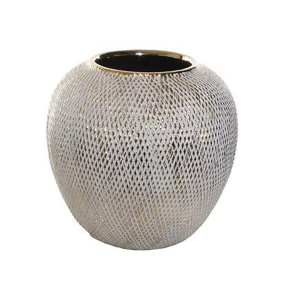 Ceramic Vase Grey Gold