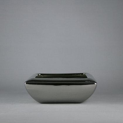 Sliver Ceramic Square Planter L26cm x H9cm x D26cm