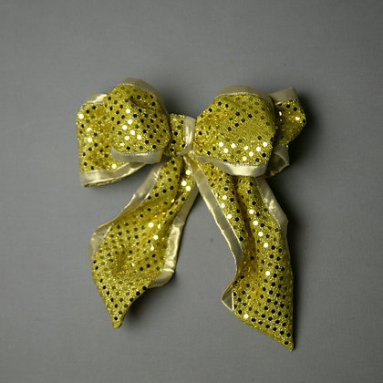 Gold Bow Dots