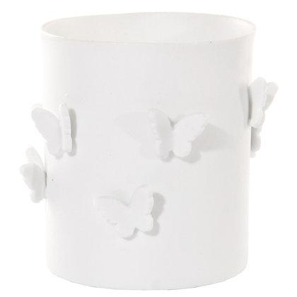 White Porcelain Butterfly Pot M