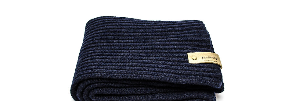 Nocturne Ribbed Merino Scarf by Inis Meáin