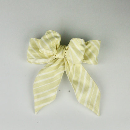 Tailored Easter Bow With Stripe