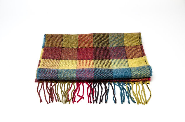 Harvest Block Check Scarf by Foxford