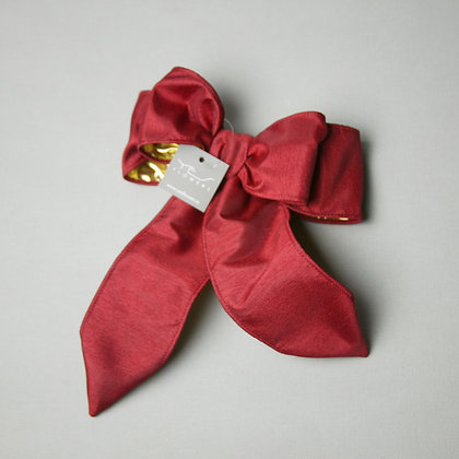 Red/Gold Satin Bow