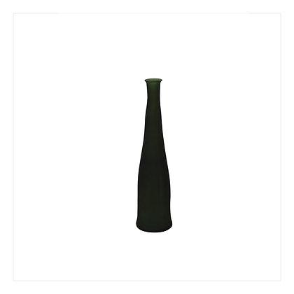 Frosted Green Bottle Vase