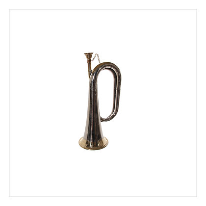 Silver & Gold Trumpet 17cm