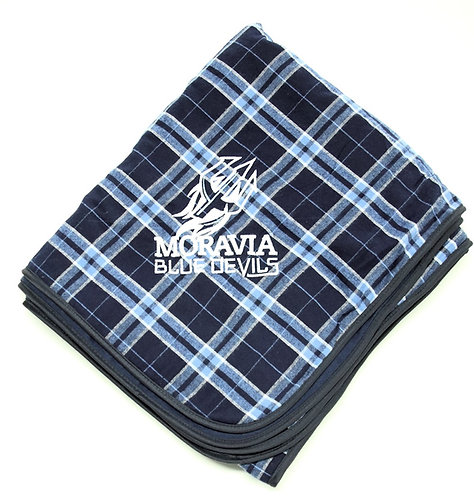 Blue Devils Plaid Blanket