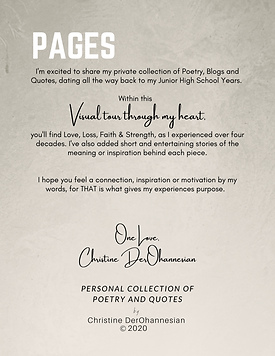 PAGES  by Christine DerOhannesian 2020