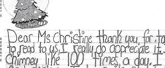 Letters to Christine DerOhannesian