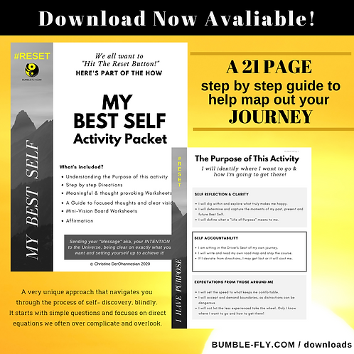 """ MY BEST SELF"" Activity Packet"