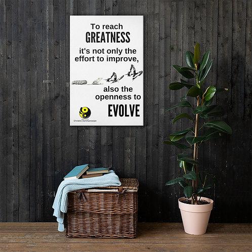 EVOLVE: Canvas 24x36