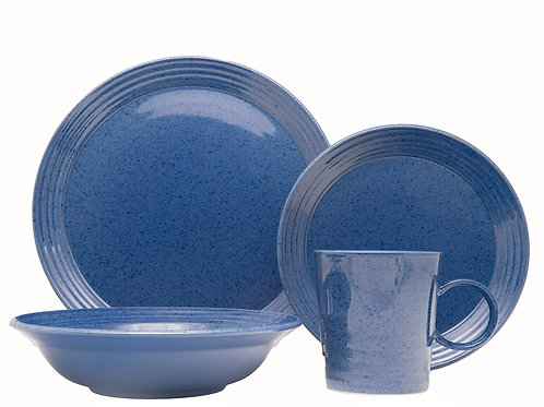 Terrastone Aqua Blue 16Pc Dinner Set