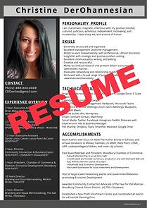 Christine DerOhannesian Resume & Portfol