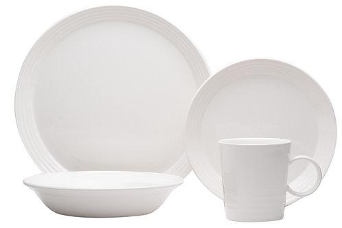 Terrastone White 16Pc Dinner Set